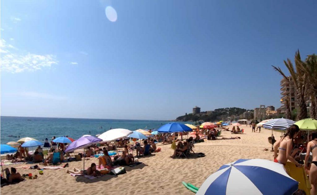 Playa de San Antonio de Calonge Costa Brava Catalunya España